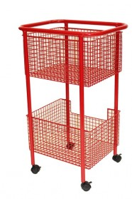 New wire basket trolley SML