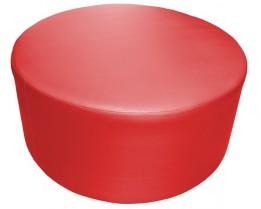 round ottoman red