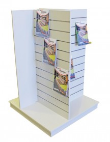 4 Sided slatted display stand 1