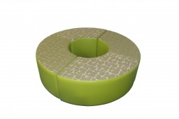 curved ottoman 6520