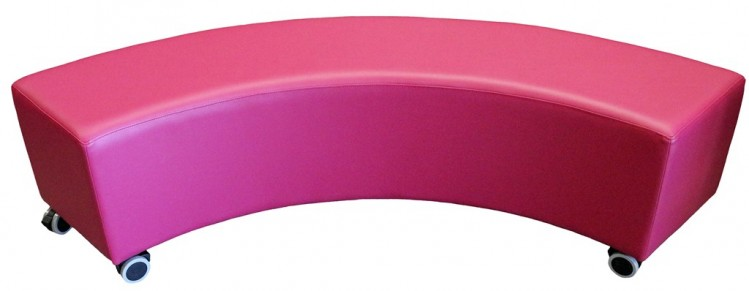 Curved ottoman pink