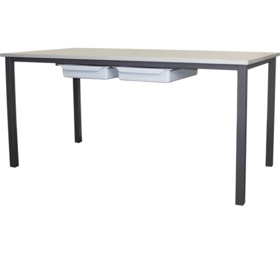 750002 student table with plastic trays dva fabrications for Table student