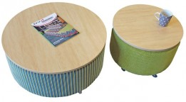 Coffee table ottomans large