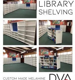 Melamine shelving